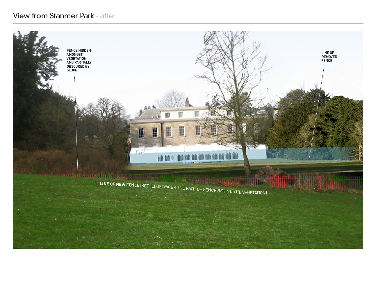 Stanmer House Fence Proposal 1