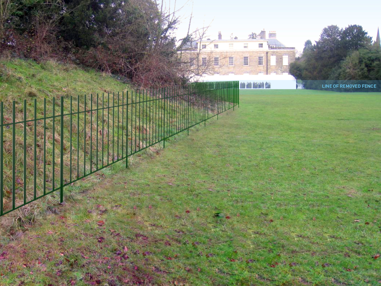 © Fiona Atkinson Landscape Design - Proposed fence - visual by Jim Hine