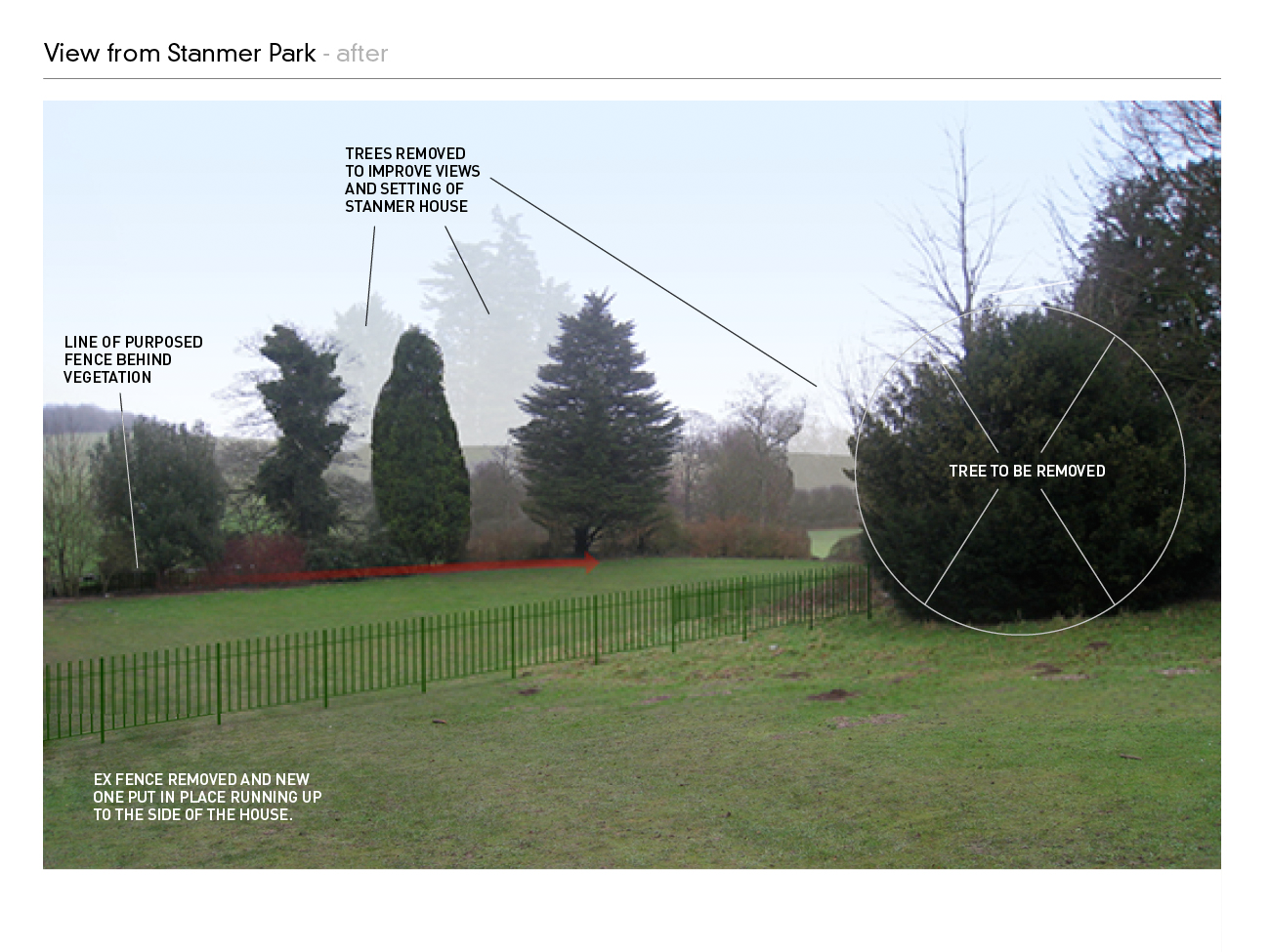 Stanmer House Fence Proposal 3